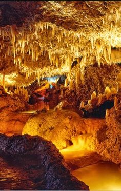 Harrison's Cave,Barbados - we were here in 1999 - I remember us all wearing blue hard hats!
