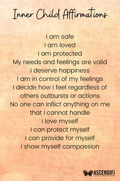 Affirmations for your Inner Child