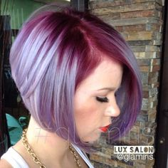 Wild Orchid roots melting into a steel blue and silver- lavender. #Pravanavivids #Pravanapastels @glamiris Hair by Iris from Lux Salon in Stockton, CA by bonnie cannan