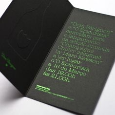 DESIGN AND DESIGN   black with lime green print