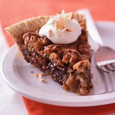Millionaire's Pie - yummy pie layered with chocolate, coconut and pecans!