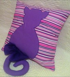 Happy Pillow- Tailed cat- handmade pillow  35x35 cm  Order at: happy_pillows@yahoo.com