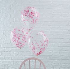 Pick and Mix Pink Confetti Party Balloons - Confetti Balloons - Balloons - Party Supplies Party City Balloons, Ballon Party, Pink Balloons, Confetti Balloons, Wedding Balloons, Latex Balloons, Birthday Balloons, Ballon Rose, Paper Confetti
