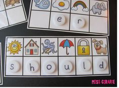 Secret Sight words literacy station... every sight word included! Kids look at the picture and figure out the beginning sound and put that letter (write it with dry erase marker, alphabet magnets, letters written on bottle caps, whatever!) under each one