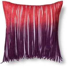 Boho Boutique Indie Fringe row Throw Pillow