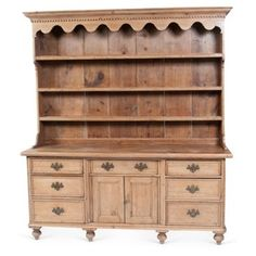 Check out this item at One Kings Lane! Antique French Cabinet w/ Plate Rack