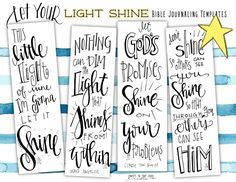 Free Bible Journaling Templates Let Your Light Shine
