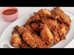Crispy Homemade Wings Recipe – Laura Vitale – Laura in the Kitchen Episode 277 Dinner Chicken – Dinner Recipes Crispy Wings Recipe, Crispy Baked Chicken Wings, Fried Chicken, Chicken Batter, Garlic Chicken, Roasted Chicken, Chefs, Homemade Wings, Homemade Waffles