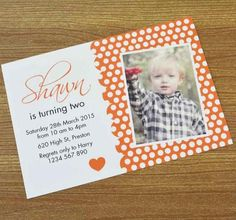 Shawn's 2nd Birthday, Customise today at Inspired Design