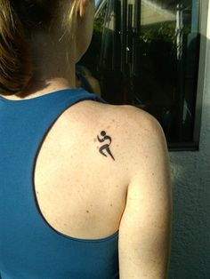 runner tattoo...im not a runner but that kinda reminds me of work (Humpal Physical Therapy)