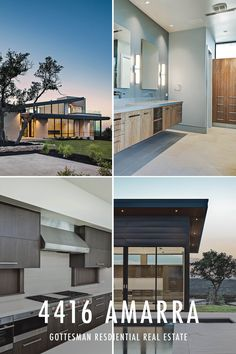 4416 Amarra - Gottesman Residential - Perched on a hilltop in Amarra, this home is a meticulous execution of sophistication and relaxation. Designed by Dick Clark, the home features a casual, open floor plan offering fabulous pool and outdoor living area.  Details include Leuder limestone floors with wood accent walls, gourmet kitchen with custom cabinetry, Miele appliances, Dornbracht and Fantini fixtures and more!