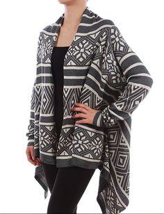 Sideline Sass Boutique - Aztec Cardi.