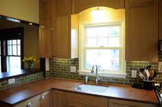 Welcoming warmth of Nuxite recycled walnut shell countertops.