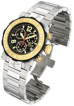 Price:$282.99 #watches Invicta 6134, Created in a blend of fashion and class, this Invicta timepiece exhibits a bold style that adds flare to your collection.