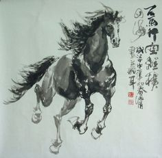 chinese ink horse paintings