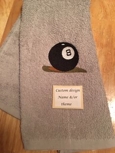 A personal favorite from my Etsy shop https://www.etsy.com/listing/400402227/billiard-towel-sports