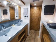 SKYLARK | Luxury yacht charters | Catamaran for charter | Sunreef Yachts Charter Sunreef Yachts, Skylark, Catamaran, Interior Ideas, Bathtub, Bathroom, Luxury, Standing Bath, Washroom