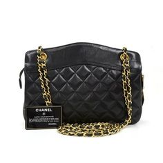 Chanel Vintage Quilted Leather Medium Shoulder Bag $1,650