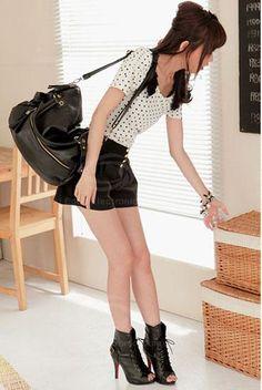 New Arrival Rivet Embellished Black Big Bag For Women (BLACK) China Wholesale - Sammydress.com