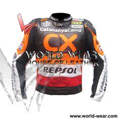 Repsol CX Motorbike Racing Leather Jacket