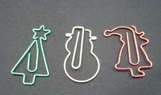 paper clip christmas ornaments | Midori-D-Clips-Christmas-Edition-Paper-Clips-Tree-Snowman-Santa.JPG