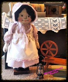 PRIMITIVE rag doll rag doll softie handmade by WhisperingGypsy, $25.00