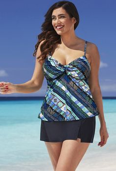 Shore Club Out of the Blue Tie-Front Underwire Skortini