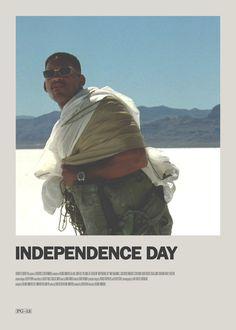 Independence Day Minimal Movie Poster  https://society6.com/theearlofgrey