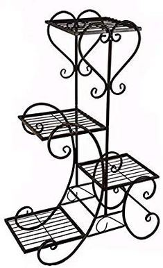 Outdoor metal furniture wrought iron 21 New ideas House Plants Decor, Plant Decor, Art Fer, Homemade Outdoor Furniture, Indoor Flower Pots, Wrought Iron Decor, Metal Plant Stand, Plant Stands, Door Gate Design