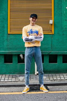 Kim Taegeun, Seoul - Total Street Style Looks And Fashion Outfit Ideas Seoul Street Style, Looks Street Style, Urban Fashion, Mens Fashion, Fashion Outfits, Fashion Trends, Style Fashion, Fashion Tips, Streetwear Mode