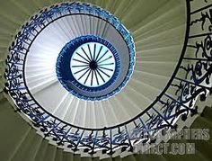 The Queen's house in Greenwich features the geometric self-supporting spiral staircase. Chair Height, Take The Stairs, Stairway To Heaven, Spiral Staircase, My Dream Home, Interior Design, Watch, Leather, House