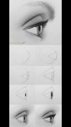 How to Draw realistic eye step by step How to Dr. - How to Draw realistic eye step by step How to Draw realistic eye st - Eye Drawing Tutorials, Drawing Techniques, Drawing Tips, Drawing Ideas, Beginner Drawing, Drawing Process, Drawing Skills, Painting Tutorials, Art Tutorials