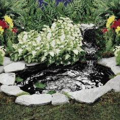 1000 images about backyard simple water features on for Plastic yard ponds