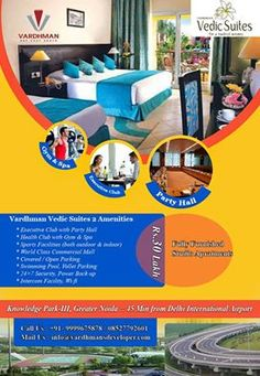 Vardhman Vedic Suites Greater Noida After the grand success of Vedic Suites, Vardhman Group is coming with its new Studio apartments Vedic Suites - at  Knowledge Park III Greater Noida. Vardhman Vedic Suites is a new upcoming residential cum commercial project that is coming up at a very superb locality of Greeter Noida. Being the first ever project to offer you all comforts at one place, this project is blessed with studio obtaining on the growing and changing expectations of people.