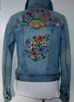Embroidered Denim Jacket / Custom Orders / by TheHippieHabit
