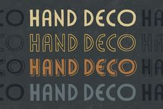 HandDeco 4-Font Family by Gerren Lamson on @creativemarket