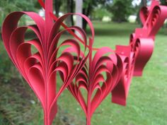 Red Heart Garland Wedding Shower Decoration ANY by TreeTownPaper, $18.00