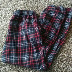 Plaid PJ Pants Good condition. Size M. They are men's but can be used for whoever. I wore them and they are so comfortable. Intimates & Sleepwear Pajamas