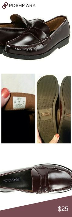 Sperry Top-Sider boys penny loafers *new* Brand new without the box. I posted pictures from Speerys site as well as the shoes i have to show the perfect condition they are in. Never worn. Plum in color. Sperry Top-Sider Shoes Flats & Loafers