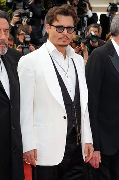 """Johnny Depp in Cannes D Remember our T-shirts """"SERIOUSLY SEEKING JOHNNY DEPP""""??"""