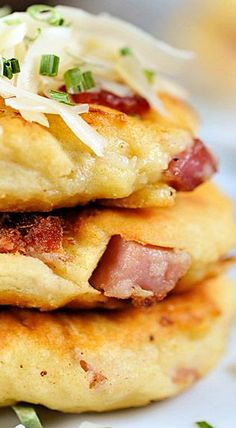 Ham and Cheese Potato Pancakes