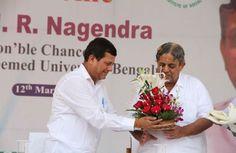 Achyuta Samanta :- Welcoming Dr. H.R.Nagendra, Hon'ble Chancellor, S-VYASA Deemed University, Bengaluru.