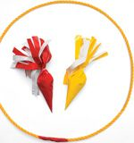 Make your own safe lawn darts from grocery bags and duct tape.