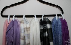 Scarf Storage - Hanger with Shower Curtain circles
