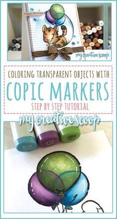 How to Color Transparent Objects using Copic Markers - My Creative Scoop Marker Kunst, Copic Marker Art, Copic Pens, Copic Sketch Markers, Copic Art, Copics, Copic Markers Tutorial, Spectrum Noir Markers, Coloring Tutorial