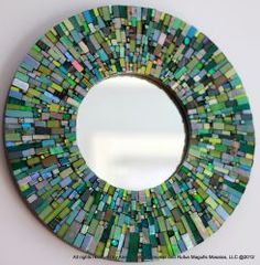 Mosaic Mirror (Ariel Shoemaker) by selma Mosaic Wall Art, Mirror Mosaic, Mosaic Glass, Mosaic Tiles, Glass Art, Stained Glass, Mosaic Crafts, Mosaic Projects, Mosaic Designs