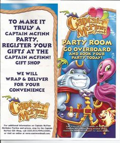 Kidding Around: Captain McFinn's Birthday Party Info