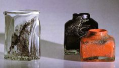 effie-graa.com. Vases: 'Karasjok', Benny Motzfeldt, Randsfjord 1970. Fredrikstad, Scandinavian Art, Glass Design, Glass Art, Antiques, Norway, Vases, Inspiration, Vintage