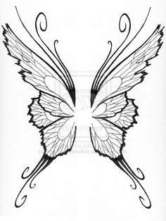 Fairy Wing Tattoo - can also used as a template for chocolate fairy wings