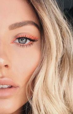 eyeliner makeup looks . eyeliner makeup looks winged . eyeliner makeup looks natural . eyeliner makeup looks simple . Blue Eye Makeup, Skin Makeup, Makeup Looks Blue Eyes, Airbrush Makeup, Blonde Hair Blue Eyes Makeup, Coral Makeup, Summer Eye Makeup, Autumn Makeup, Pastel Makeup